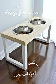 DIY <b>No</b>-<b>Slip Dog Feeder</b> | <b>creativity</b> | Dog food stands, Dog station ...