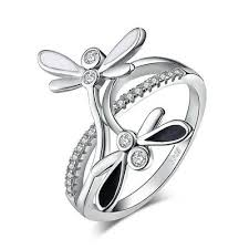 <b>JewelryPalace</b> 925 Sterling Silver Double Dragonfly Shank <b>Cubic</b> ...
