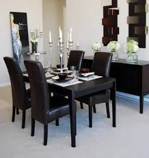 romantic dining room with black wood dining set black wood dining room