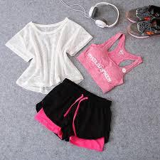 Новинка, 3 в 1, костюм для бега, йоги, <b>Спортивная</b> футболка + ...