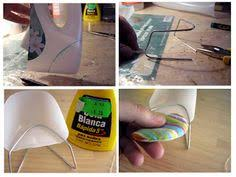 retro chair made out of plastic bottle and wire barbie doll furniture diy