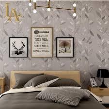 Modern Wallpaper For Bedrooms Aliexpresscom Buy Grey Blue Purple Leaf Modern Wallpaper For