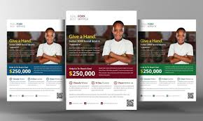 charity donation flyer template flyer templates on creative market