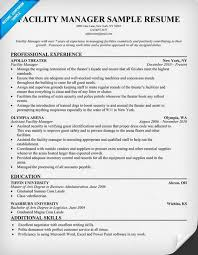 facility manager resume   facility management   pinterest   resumefacility manager resume