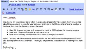 email format email cover letter