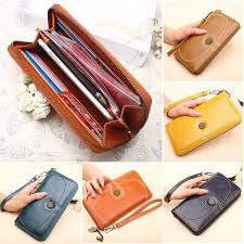 Women Large Capacity <b>PU Leather Wallet</b> Coin Purse Card Case ...