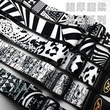 <b>Adjustable Guitar Strap Print</b> Super Thick Super Soft Black and ...