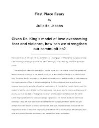 essay on martin luther king our work martin luther king jr student essay