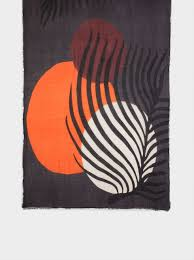 Modal <b>Leaf Print</b> Handkerchief - Orange - <b>Woman</b> - Printed - parfois ...