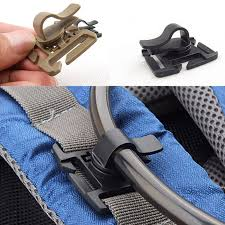 2PCS EDC <b>Drink Tube Clip Gear</b> Water Pipe Hose Clamp Backpack ...