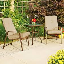 piece outdoor bistro patio set mainstays lawson ridge  piece outdoor bistro set seats  walmartcom