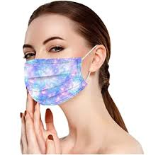 50PCS Disposable Adult Printed Mask,Adult Unisex Mask Mixed ...