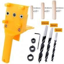 Buy woodworking <b>drilling</b> locator guide <b>wood dowel hole</b> jig set and ...