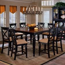 Suede Dining Room Chairs Dining Room Long Mission Style Set With Brown Color And Made Of