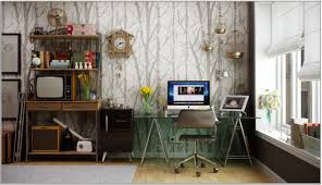 nursery decor office decorating ideas with wooden floor and forest themed wallpaper dark furniture design adorable office decorating ideas shape