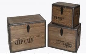"""Купить <b>Набор</b> деревянных сундуков из <b>3</b>-<b>х</b> штук """"Family <b>Old</b>"""" с ..."""