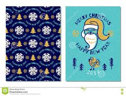 template of holiday postcard new year card stock vector holiday card trendy postcard merry christmas happy new year 2017 royalty stock photography