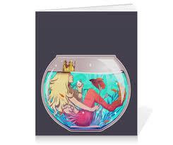 """Тетрадь на клею """"<b>Русалка</b> в аквариуме"""" #2820987 от VarvarArt ..."""