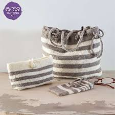 CreaCrafts <b>Trio</b> of Bags Knitting Kit | Knit & <b>Stitch</b> Creative ...
