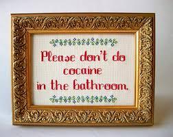 в ванной кокаин не употреблять