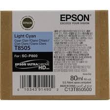 Оригинальный <b>картридж Epson</b> T8505 (Светло-голубой) Светло ...