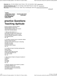 practice questions teaching aptitude teachers test assessment