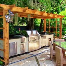 Outdoor Patio Kitchen Vintage Wooden Canopy Also Outdoor Patio Kitchen Paired With Brown