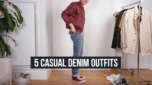 5 <b>Casual</b> Denim Looks | <b>High</b>-<b>Quality Men's</b> Jeans | J. brand, AG ...