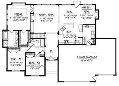 Mountain House   Open Floor Plan by   Floor Plans  House plans    Home Plans Ranch  Ranch Floor Plans  House Floor Plans  Open Floor Plans  Floor Ranch  Plan Ranch  House Plans Ideas  House Plans And More  Prairie Style
