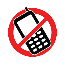 Image result for no cell phone sign black and white