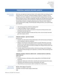 personal banker resume samples templates tips onlineresume personal banker resume