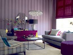 Purple Living Room Set Bedroom Sweet Teeny Decoration With Purple Wall Color Interior