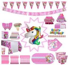 <b>Unicorn Party Supplies</b> Pack, Comes <b>Disposable</b> Tableware ...