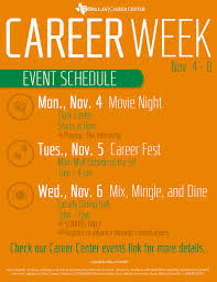 career week utd career center bits career week
