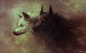 Image result for wolf painting