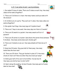 multiplication &division word problems for Year 2 by clara5 ...x ÷ problems using numbers to 50 and x2 x5 tables.docx