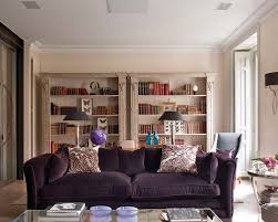 ideas purple living room sofas
