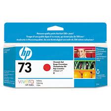 Original <b>HP 73 Chromatic</b> Red Ink Cartridge, CD951A - 4inkjets