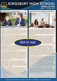latest news kingsbury high school newsletter 2016