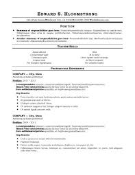 traditional resume templates for word free traditional resume templates