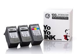 Remanufactured <b>Canon PG-40</b> Black & CL-41 Color Printer Ink ...