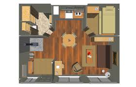 Sense and Simplicity  Shipping Container Homes   Inspiring PlansFloor plan for the Tin Can Cabin