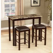 three piece dining set: brando  piece counter height dining set
