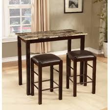 three piece dining set: brando  piece counter height dining set