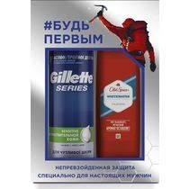 <b>Подарочный набор Gillette</b> Пена для бритья Gillette Series для ...