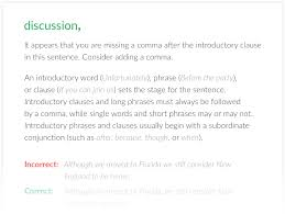 premium plans  grammarly example when he had tried to open the discussion arthur put him off