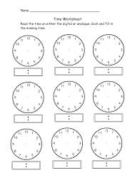 Free Clock Worksheets Ks1 | WorksheetTelling Time Worksheets Digital Clocks