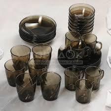 <b>Сервиз столовый из стекла</b>, 30 предметов, Basilico дымка 62076 ...