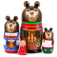 nesting dolls matryoshka russian dolls masha and the bear nesting doll