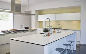 amazing white wood furniture sets modern design: amazing modern ikea kitchen modern home kitchen island design ideas with white color also grey stools